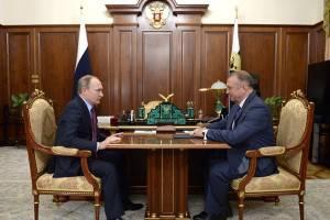 Встреча В. Путина и С. Катырина Рассыл